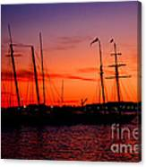 San Diego Harbor Sunset Canvas Print
