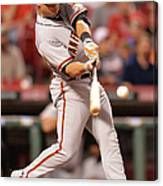 San Francisco Giants V Cincinnati Reds Canvas Print