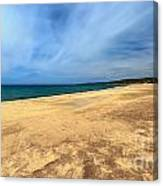 sandy beach in Piscinas Canvas Print