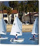Santa Barbara Harbor Yacht Race Canvas Print