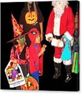 Santa Trick Or Treaters Halloween Party Casa Grande Arizona 2005 Canvas Print