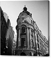 Santiago Stock Exchange Building Chile Canvas Print
