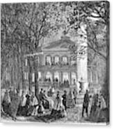 Saratoga Springs, 1865 Canvas Print