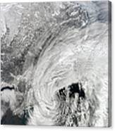 Satellite View Of A Large Noreaster Canvas Print