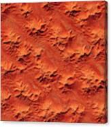 Satellite View Of Murzuk Desert, Libya Canvas Print
