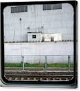 Scene From A Train In Chinas Southern Canvas Print