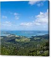 Scenic Coromandel Peninsula Nz Coastline Seascape Canvas Print