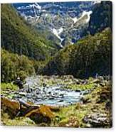 Scenic Valley In New Zealand Canvas Print
