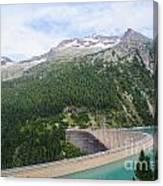 Schlegeis Dam And Reservoir  Canvas Print