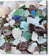 Sea Glass In Many Colors Canvas Print