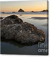 Sea Stacks At Sunset Canvas Print