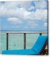 Seascape And Clouscape From Water Villa In Maldives Canvas Print