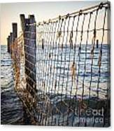 Seaside Nets Canvas Print