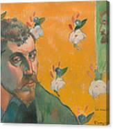 Self Portrait With Portrait Of Bernard Canvas Print
