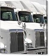 Semi Truck Fleet Canvas Print
