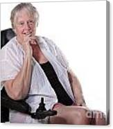 Senior Woman In Wheel Chair Canvas Print