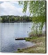 Serene Lake View Canvas Print