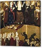 Serra, Jaume 1358-1397. Altarpiece Canvas Print