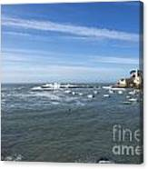 Sestri Levante With The Sea Canvas Print