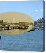 Shaw's Wharf At Sakonnet Point In Little Compton Rhode Island Canvas Print