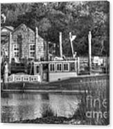 Shem Creek In Black And White Canvas Print