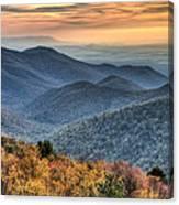 Shenandoah National Park Sunset Canvas Print