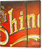 Shoe Shine Kit Canvas Print
