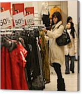Shoppers Take Advantage Of Post Christmas Bargains Canvas Print