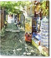 Shopping Street Canvas Print