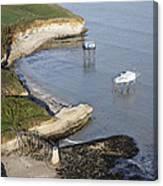 Shoreline Fishing Squares, île Madame Canvas Print