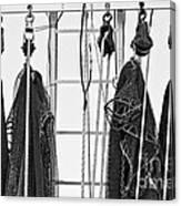 Shrimp Nets Canvas Print