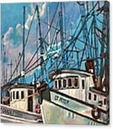Shrimpboats Canvas Print