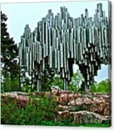 Sibelius Memorial Park In Helsinki-finland Canvas Print