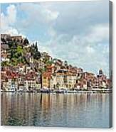Sibenik Town On Adriatic Sea  Canvas Print