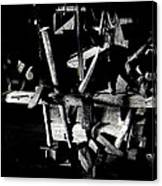 Sid Wilson's Tools For Building Stagecoaches Pick 'em Up Ranch Tombstone Arizona 1979 Canvas Print
