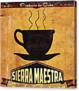 Sierra Maestra Cuban Coffee Canvas Print
