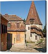Sighisoara Transylvania Medieval Historic Town In Romania Europe Canvas Print