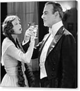 Silent Film Still: Drinking Canvas Print