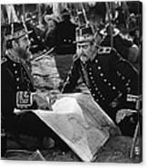 Silent Film Still: Uniforms Canvas Print