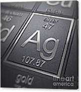 Silver Chemical Element Canvas Print