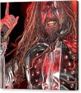 Singer Rob Zombie Canvas Print