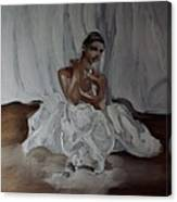 Sitting Ballerina Canvas Print