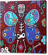 Skellyfly Day Of The Dead Canvas Print