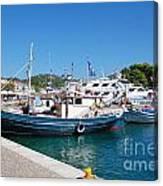 Skiathos Town Harbour Canvas Print