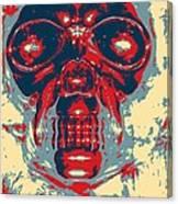 Skull In Hope Canvas Print