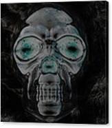 Skull In Negative Canvas Print