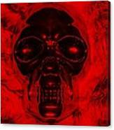 Skull In Red Canvas Print