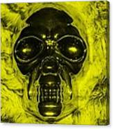 Skull In Yellow Canvas Print