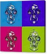 Skulls In Quad Colors Canvas Print