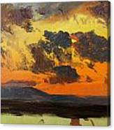 Sky At Sunset Jamaica West Indies Canvas Print